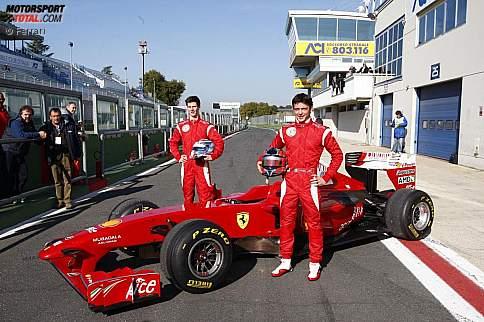 Michael Lewis und Sergio Campana (Ferrari)
