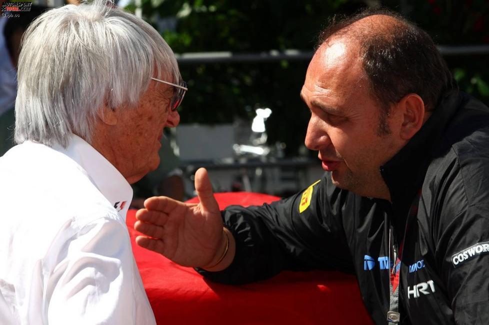 Bernie Ecclestone (Formel-1-Chef) und Colin Kolles (Teamchef)