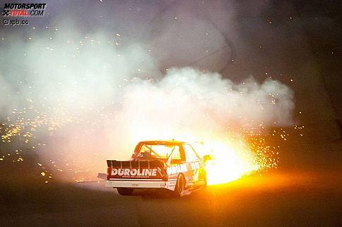 Crash von Miguel Paludo im Truck-Rennen