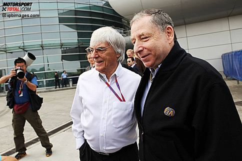 Bernie Ecclestone (Formel-1-Chef) und FIA-Präsident Jean Todt waren in China sehr gefragt.