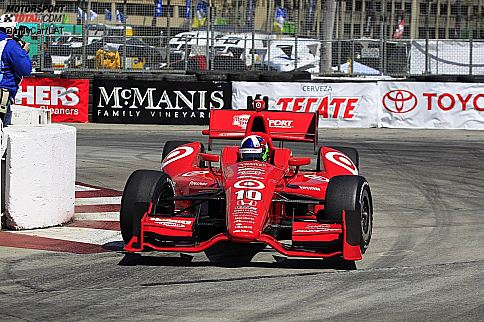 Dario Franchitti (Ganassi) in der Haarnadelkurve von Long Beach