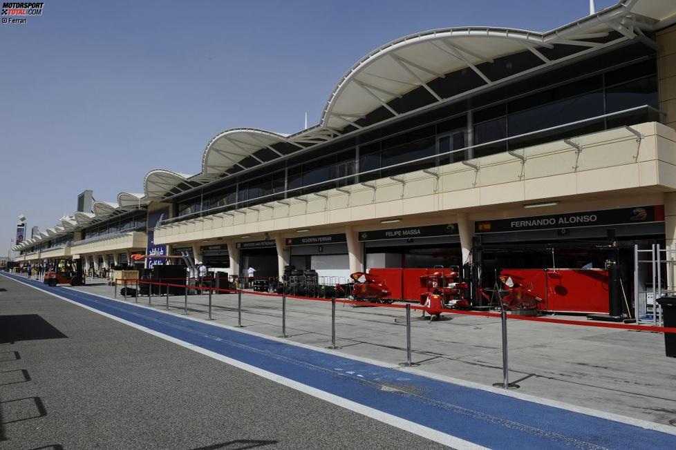 Boxengasse in Bahrain