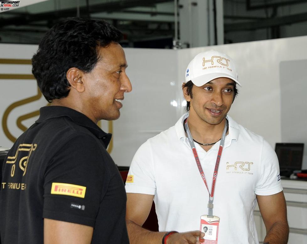 Balbir Singh mit Narain Karthikeyan (HRT)
