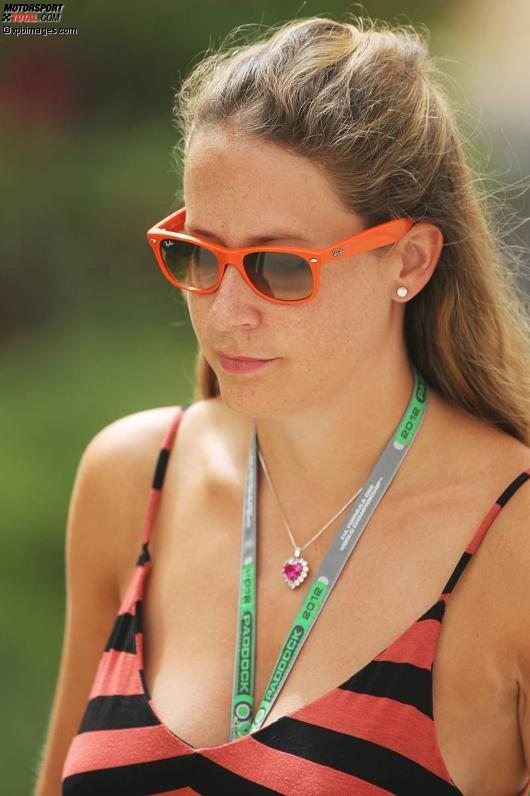 Catherine Hyde, die Freundin von Heikki Kovalainen (Caterham)