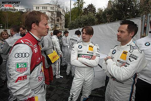 Mattias Ekström, Andy Priaulx und Augusto Farfus