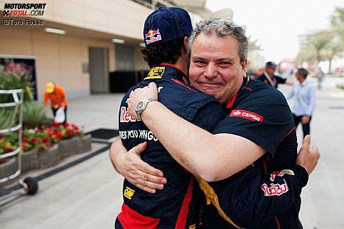 Daniel Ricciardo (Toro Rosso) Giorgio Ascanelli (Technischer Direktor)