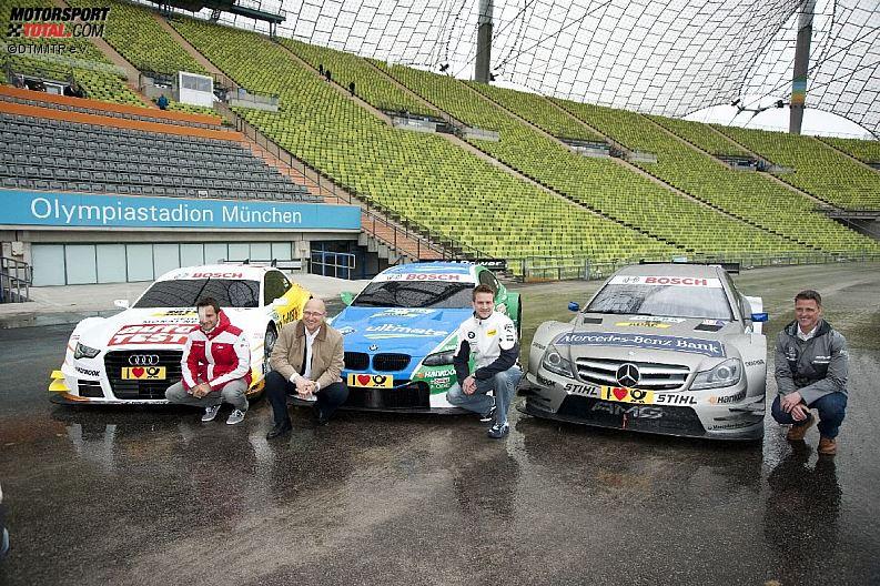 Ralf Schumacher (HWA-Mercedes), Timo Scheider (Abt-Audi) und Dirk Werner (Schnitzer)
