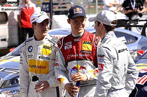 Dirk Werner (Schnitzer), Mattias Ekström (Abt-Audi) und Jamie Green (HWA-Mercedes)