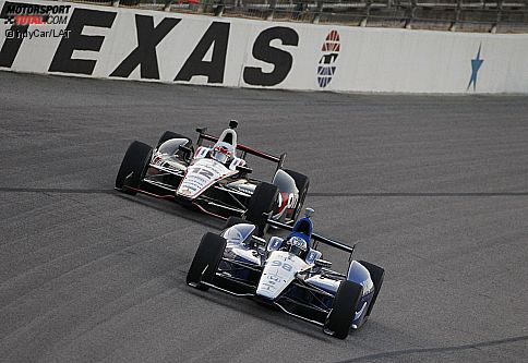 Alex Tagliani (Herta) und Will Power (Penske)