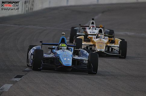 Tony Kanaan (KV), Ryan Hunter-Reay (Andretti) und Will Power (Penske)