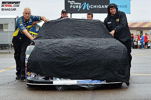 Der Roush-Ford von Matt Kenseth während der Regenverzögerung