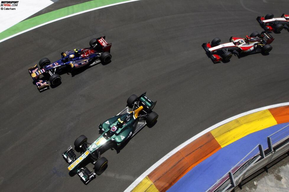 Jean-Eric Vergne (Toro Rosso) und Witali Petrow (Caterham)