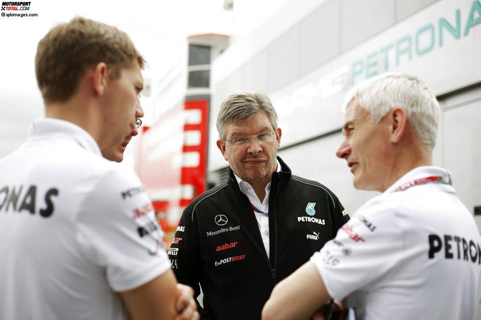 Ross Brawn (Mercedes-Teamchef) und Geoff Willis
