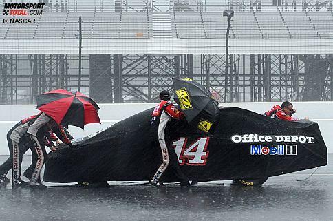 Tony Stewart (Stewart/Haas): Nichts geht mehr wegen Regen