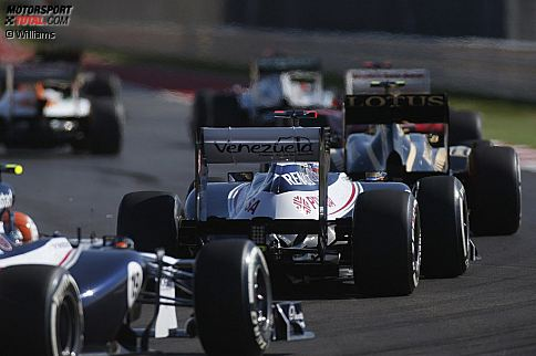 Pastor Maldonado (Williams) und Bruno Senna (Williams)