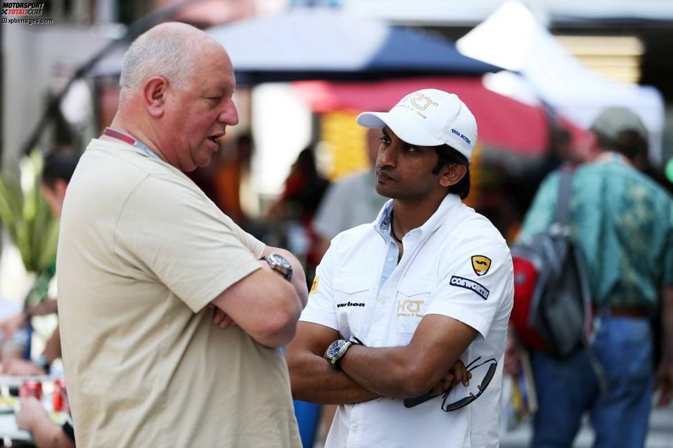 Narain Karthikeyan (HRT) im Gespräch mit Motorsport-Total.com-Reporter Dieter Rencken