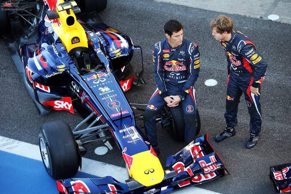 Mark Webber (Red Bull) und Sebastian Vettel (Red Bull)