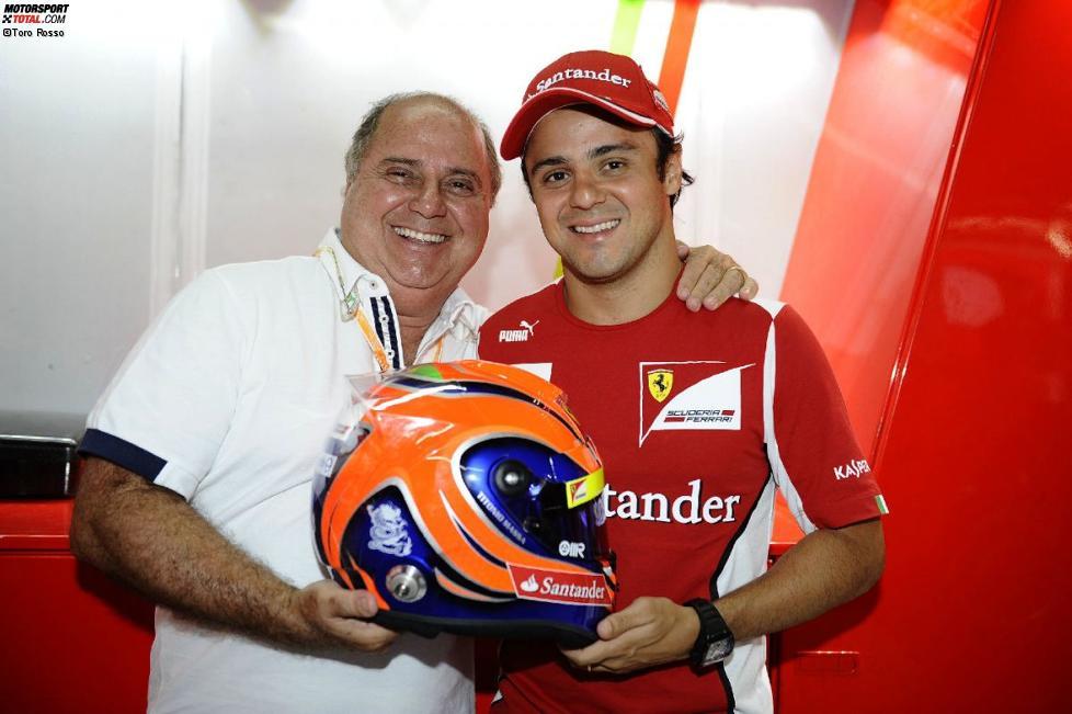 Felipe Massa (Ferrari) fährt mit dem Helmdesign seines Vaters Luiz Antonio, früher ein Tourenwagen-Rennfahrer