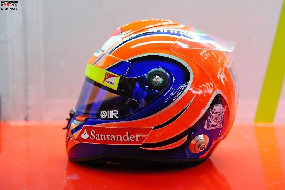 Helmdesign von Felipe Massa (Ferrari)