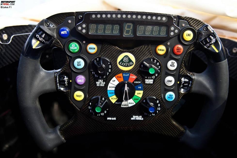 Lenkrad des Lotus E21