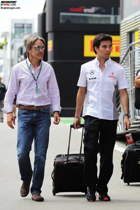 Sergio Perez (McLaren) und Adrian Fernandez