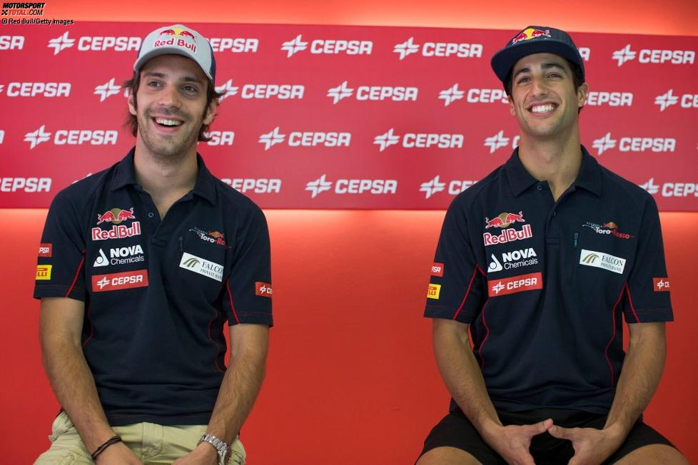 Jean-Eric Vergne und Daniel Ricciardo (Toro Rosso)
