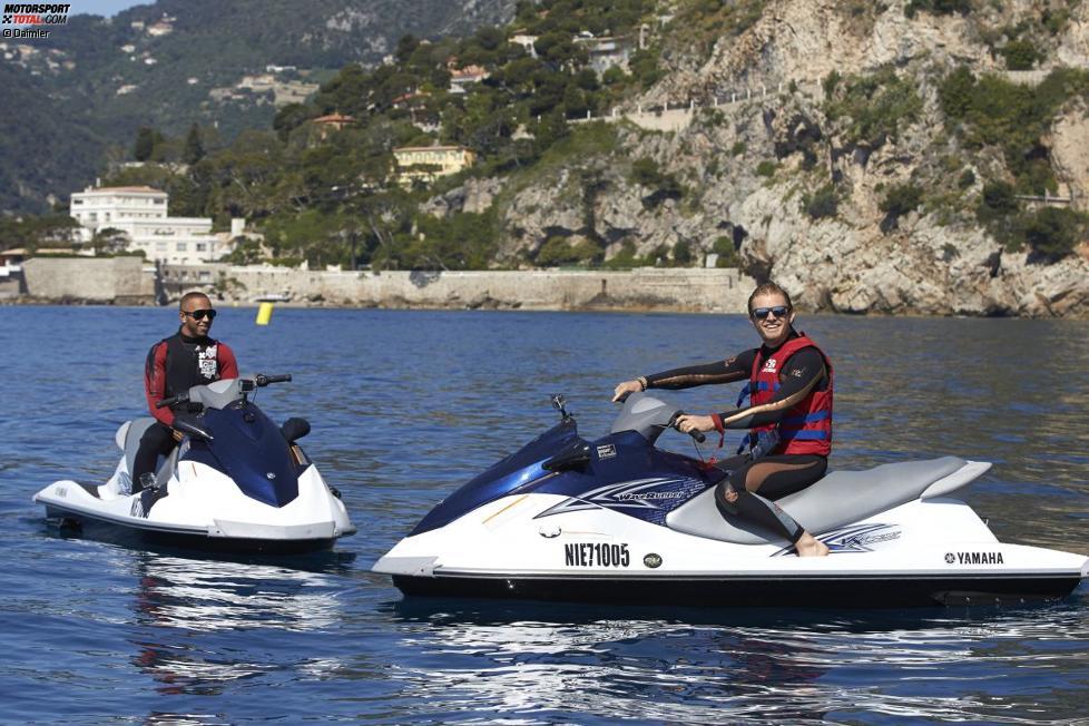 Lewis Hamilton und und Nico Rosberg (Mercedes)