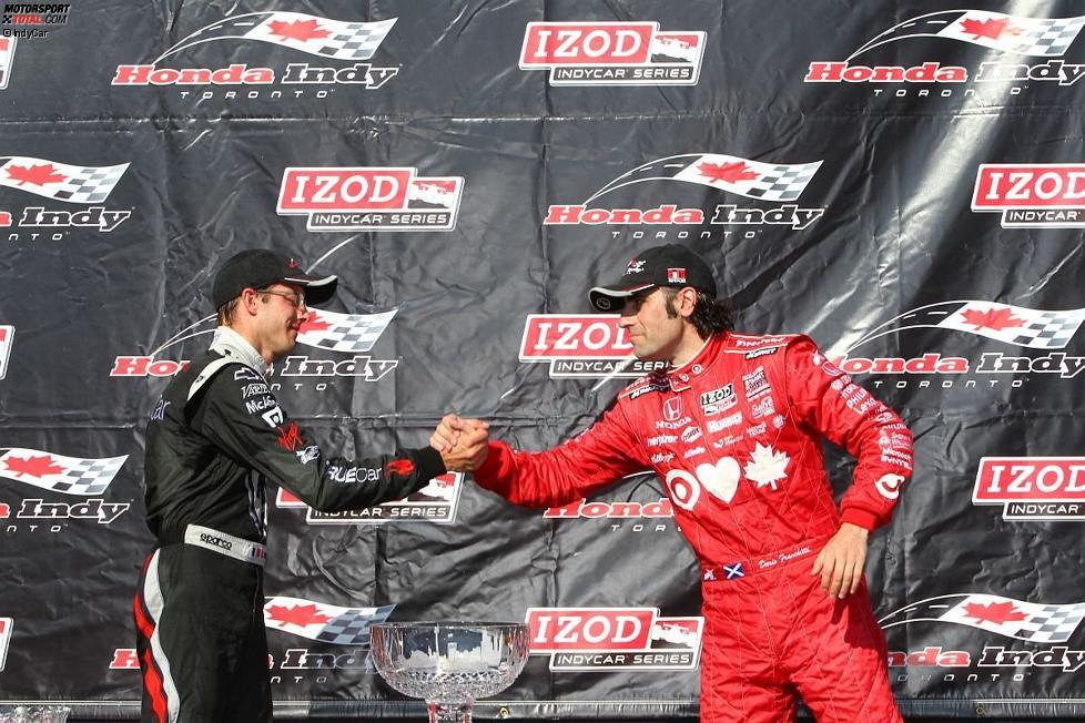 Sebastien Bourdais und Dario Franchitti: Zwei IndyCar-Schwergewichte auf dem Podium