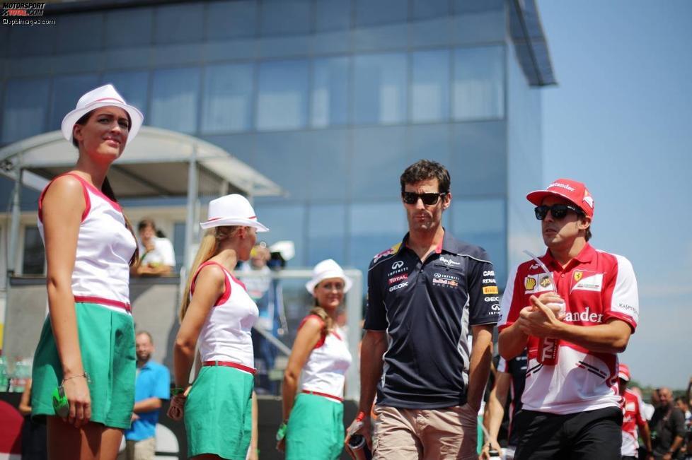 Mark Webber (Red Bull) und Fernando Alonso (Ferrari)