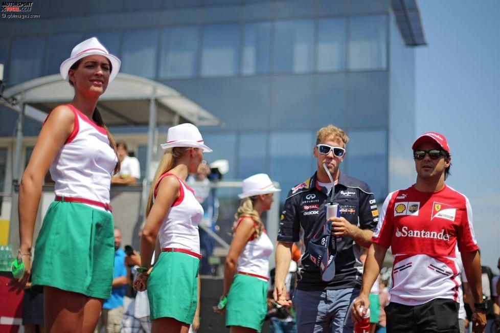 Sebastian Vettel (Red Bull) und Felipe Massa (Ferrari)