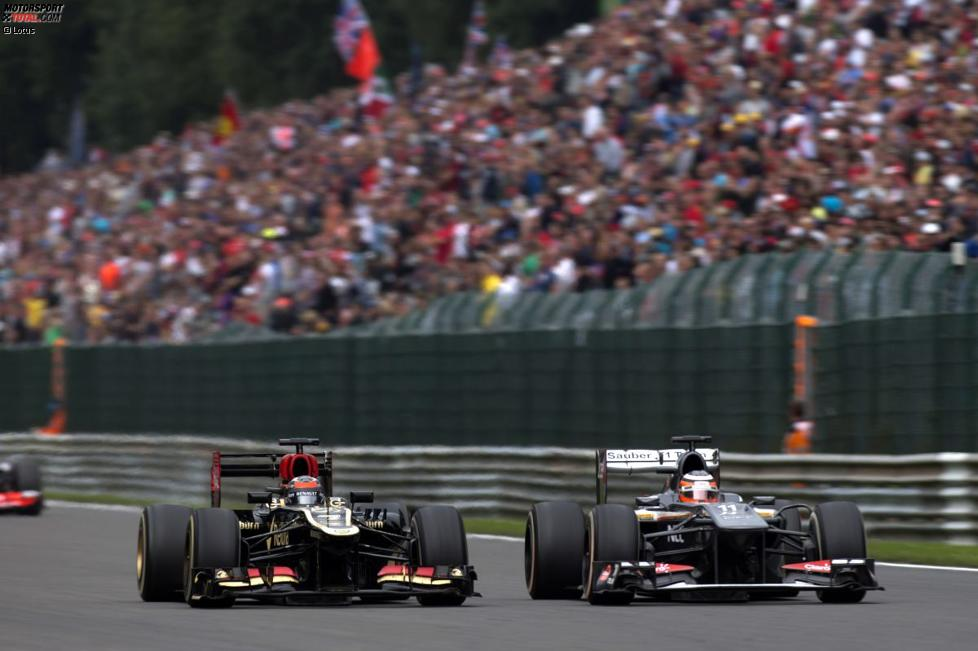 Kimi Räikkönen (Lotus) und Nico Hülkenberg (Sauber)