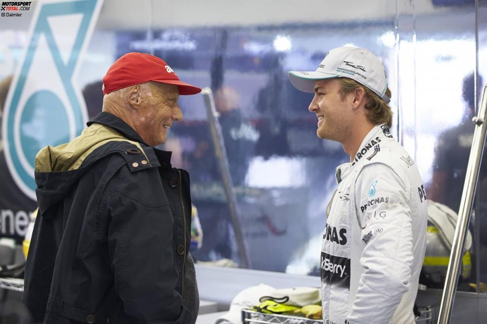 Niki Lauda und Nico Rosberg (Mercedes)