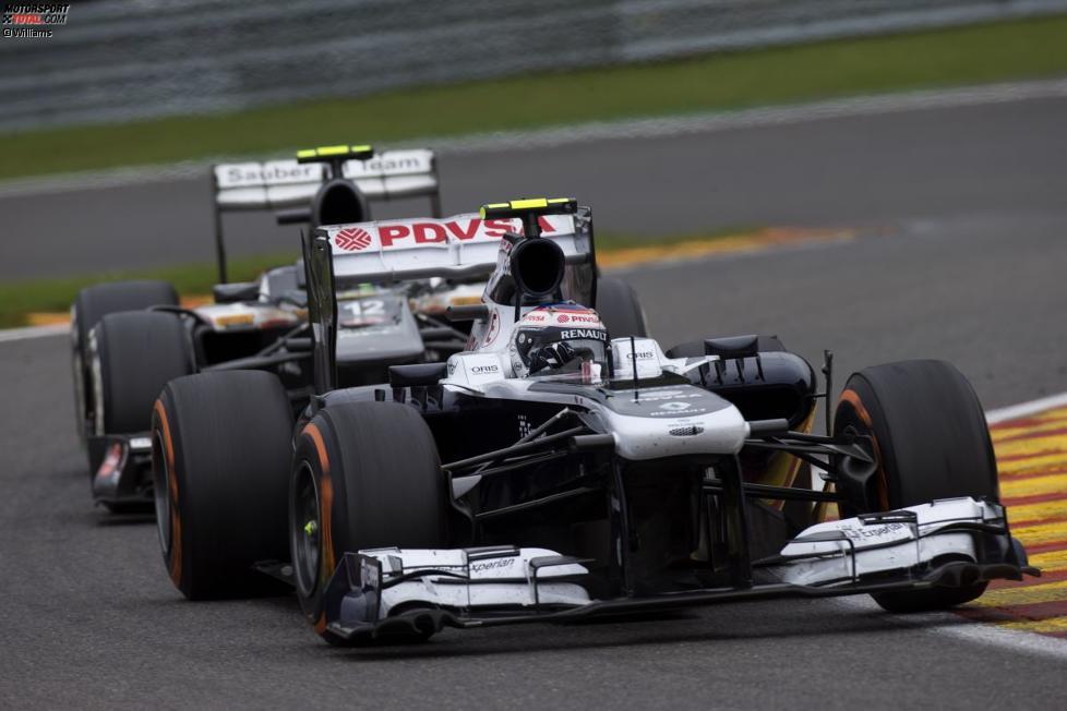 Valtteri Bottas (Williams) und Esteban Gutierrez (Sauber)