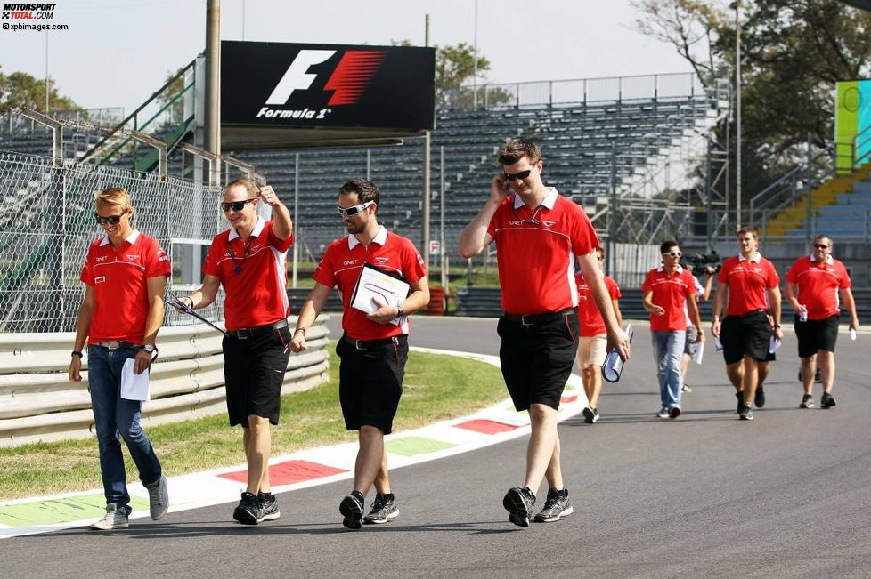 Marussia beim Track-Walk