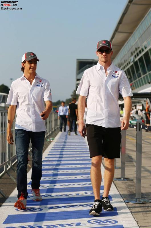 Esteban Gutierrez (Sauber) und Nico Hülkenberg (Sauber)