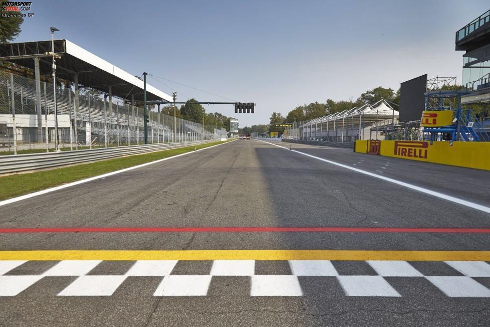 Start-Ziel-Linie in Monza