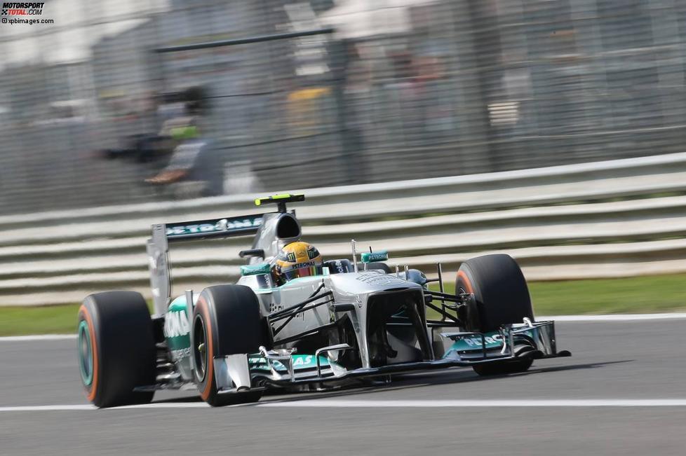 Lewis Hamilton (Mercedes) in Monza