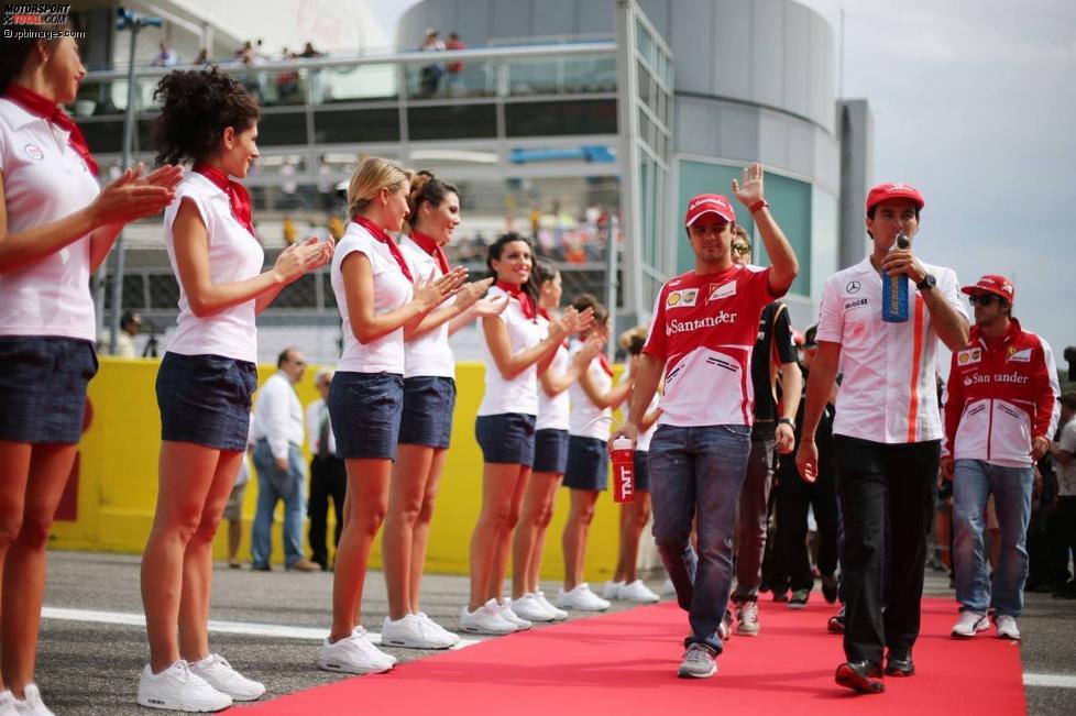Felipe Massa (Ferrari) und Sergio Perez (McLaren)