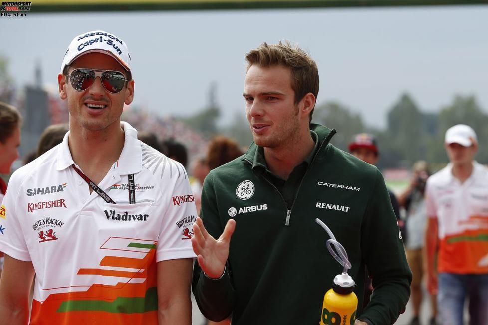 Adrian Sutil (Force India) und Giedo van der Garde (Caterham)
