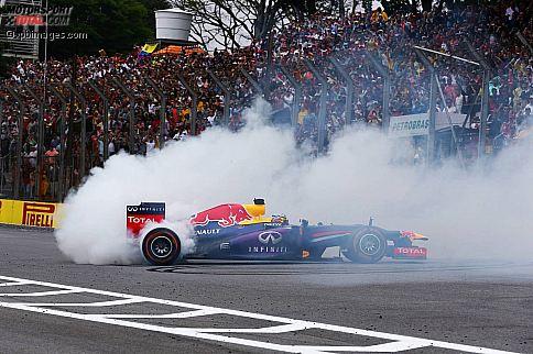 Sebastian Vettel darf nun offiziell seinen Red Bull nach Rennsiegen kreisen lassen