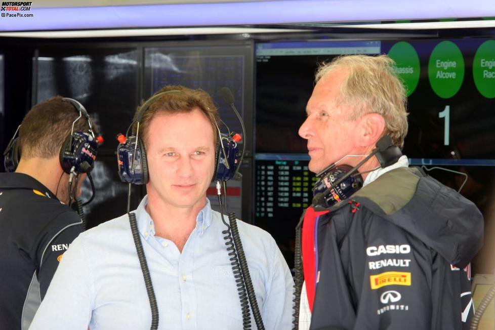 Christian Horner und Helmut Marko (Red Bull)