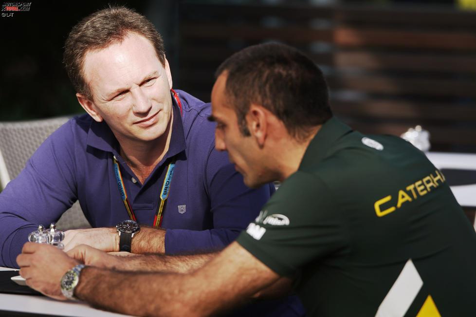 Christian Horner (Red Bull) und Cyril Abiteboul (Caterham)