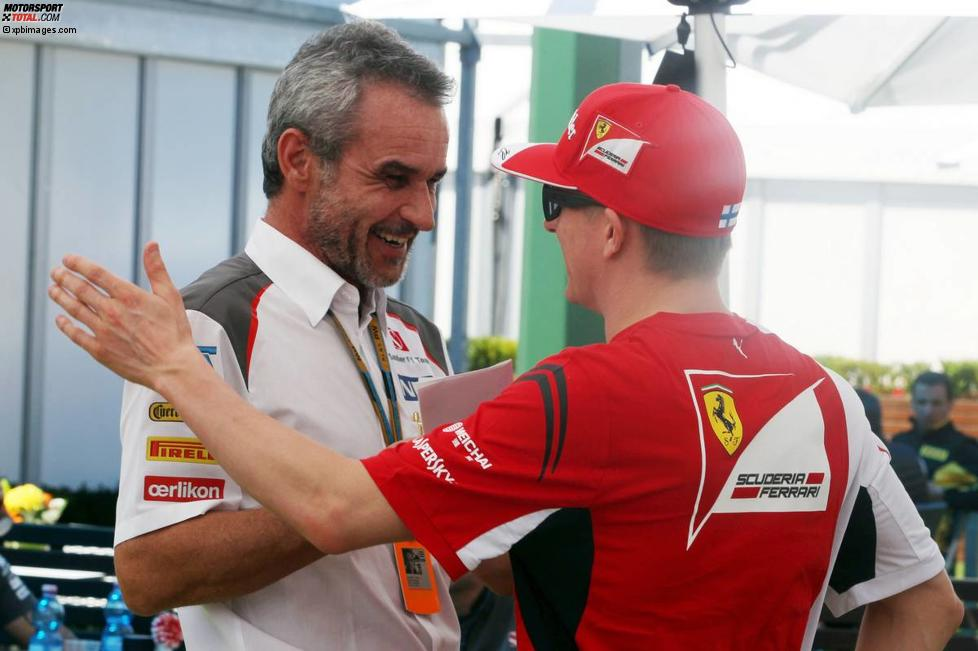 Beat Zehnder (Sauber) und Kimi Räikkönen (Ferrari)