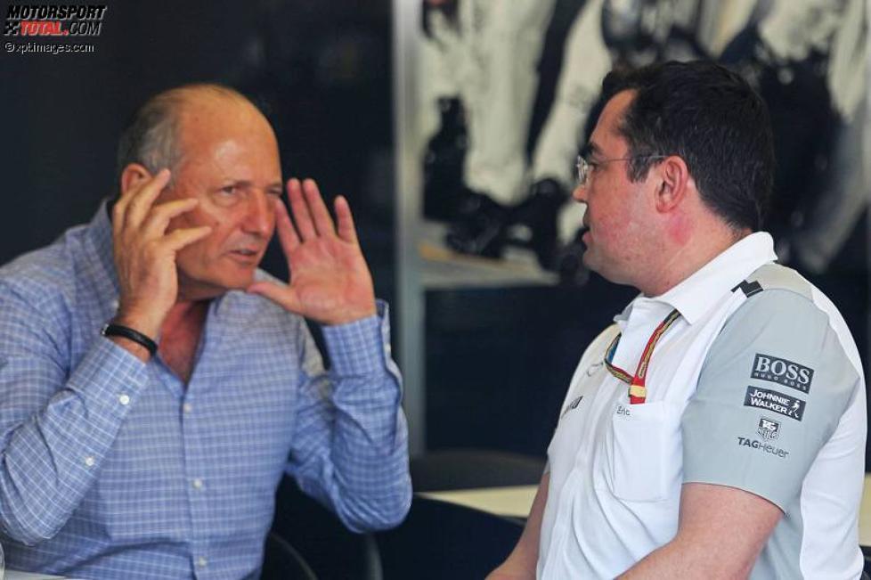 Ron Dennis und Eric Boullier (McLaren)