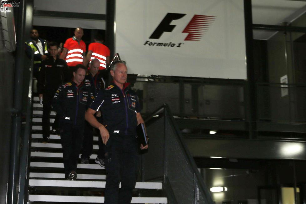 Christian Horner und Daniel Ricciardo (Red Bull)