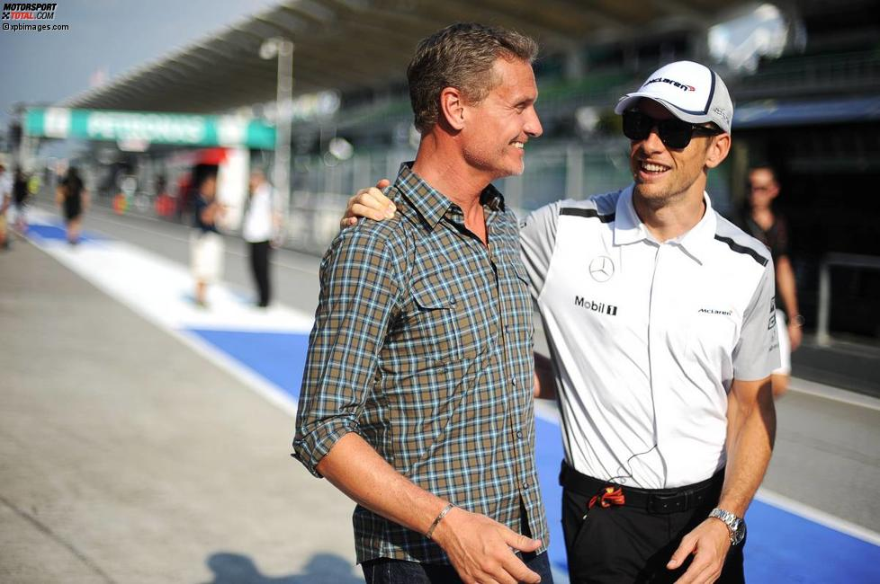 David Coulthard und Jenson Button (McLaren)