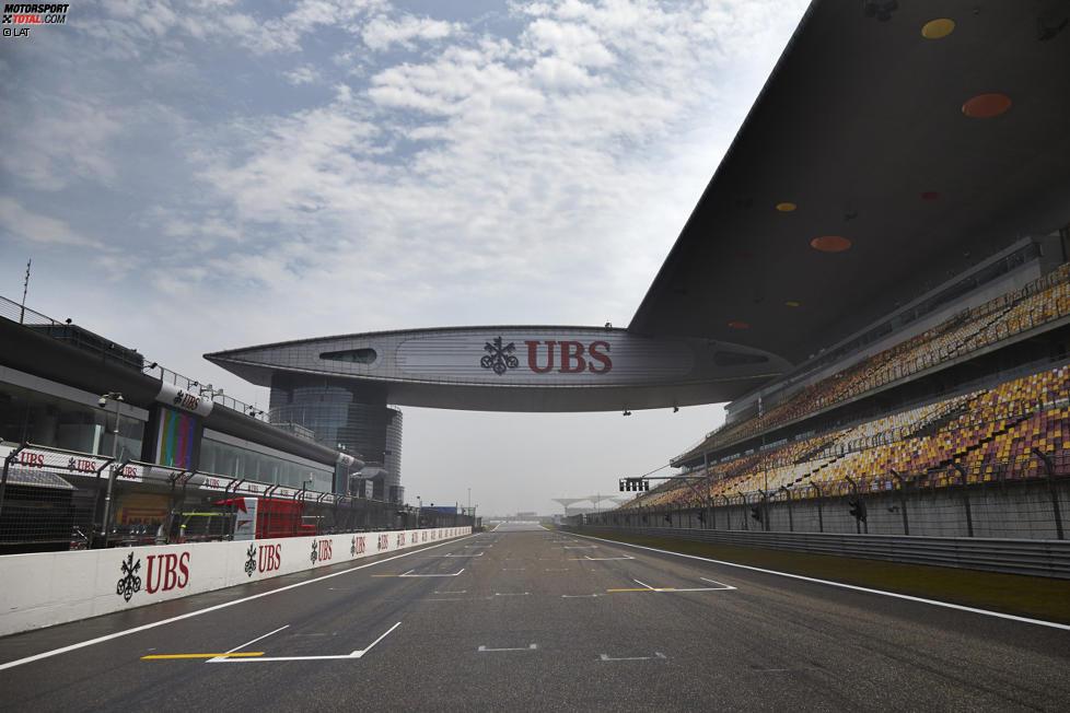 Start- und Zielgerade in Schanghai
