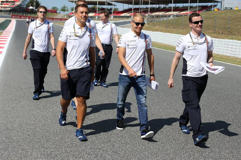 Track-Walk mit Valtteri Bottas (Williams)