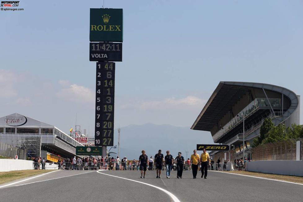 Track-Walk mit Sebastian Vettel (Red Bull)
