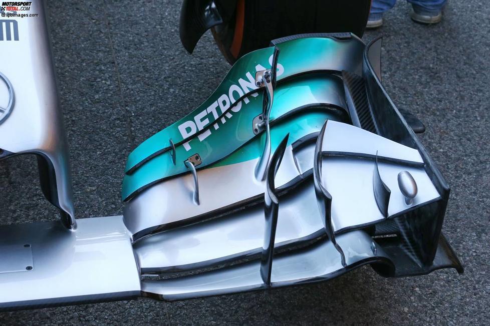 Frontflügel des Mercedes F1 W05